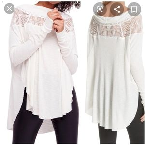 New Free People spring valley thermal tunic top
